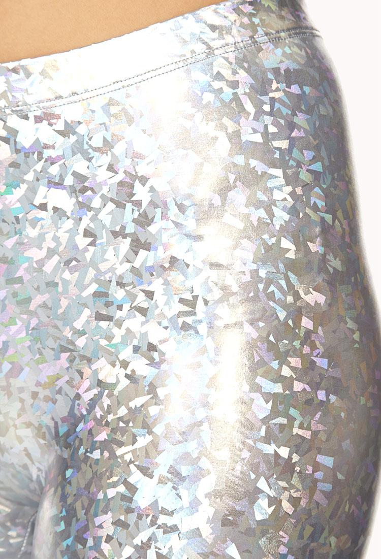 Lyst Forever 21 Holographic Leggings In Metallic