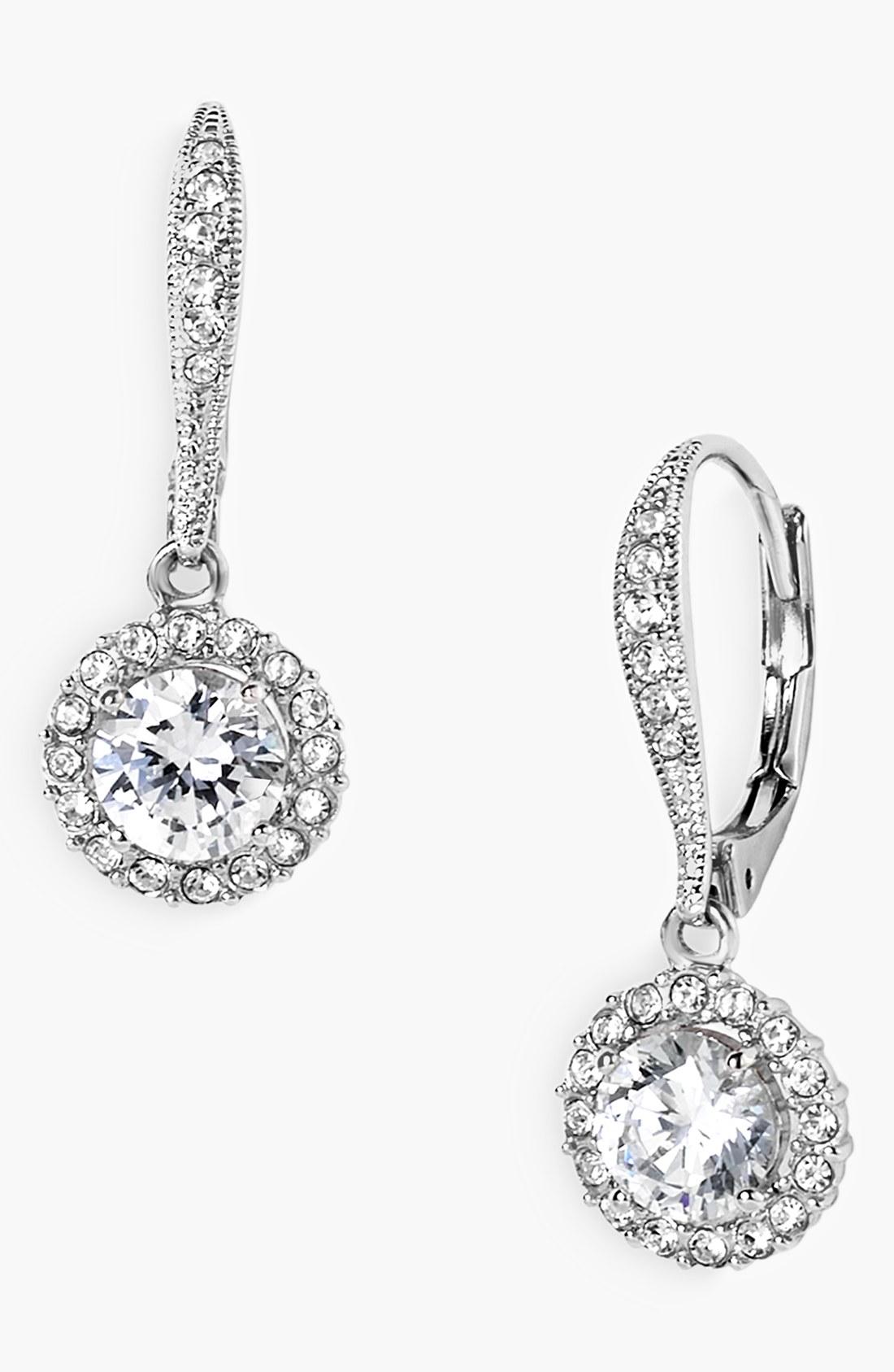 Nadri Crystal Drop Earrings In Metallic
