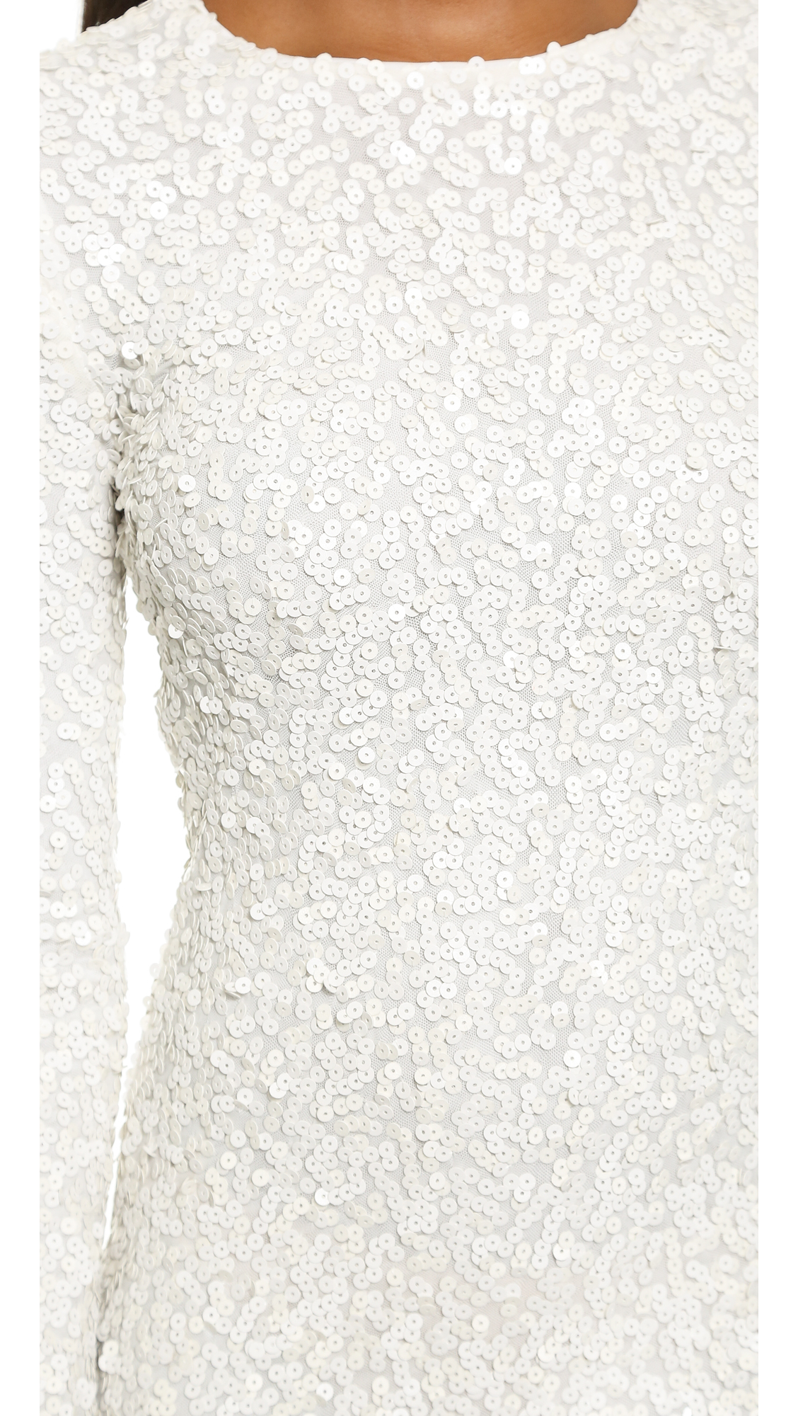 Rachel Zoe Bell Sleeve Sequin Mini Dress