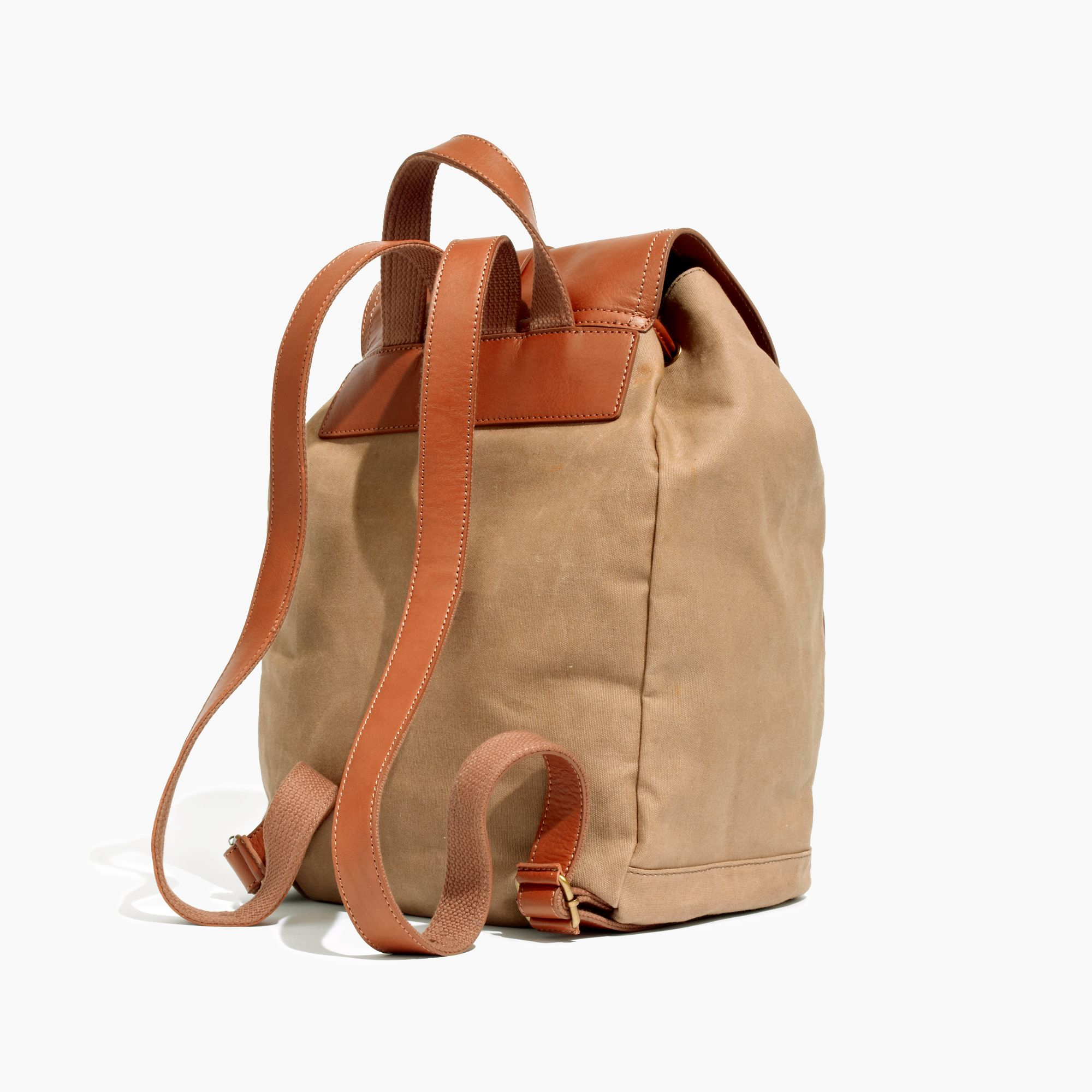 Lyst Madewell The Transport Rucksack In Waxed Canvas In