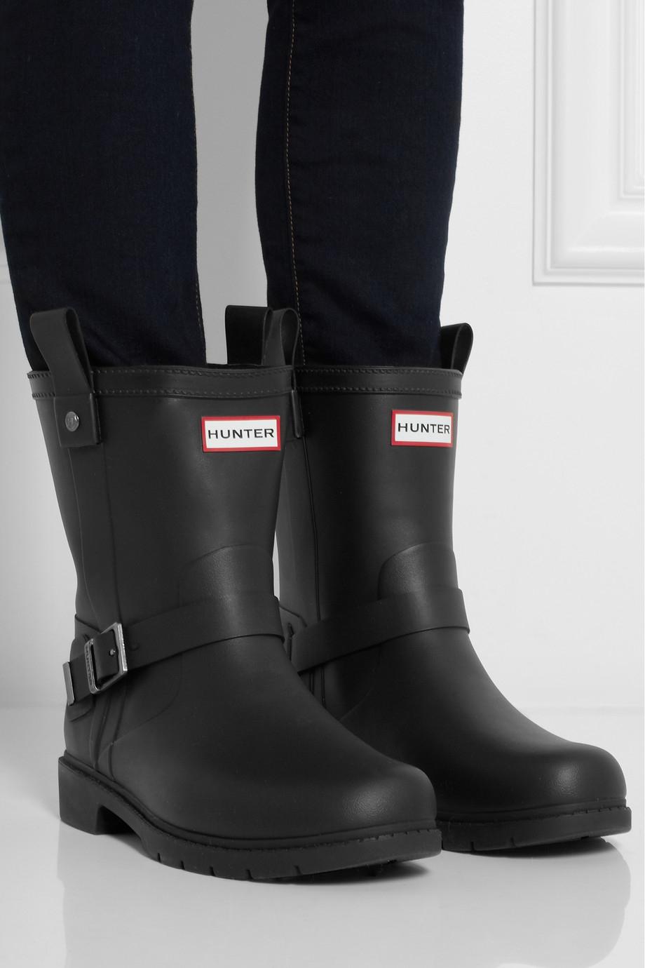 Hunter Shoreditch Wellington Boots In Black Lyst