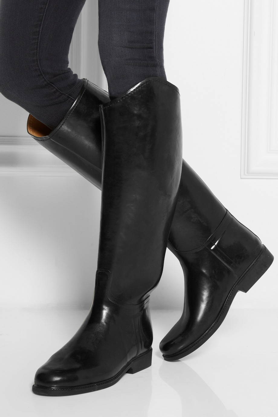 Lyst Le Chameau Alezan Leather Lined Rubber Riding Boots