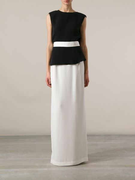 Raoul Long Pencil Skirt In White Lyst