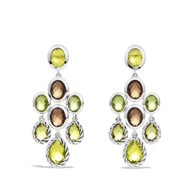 Peridot Chandelier Earrings: David Yurman Chandelier Earrings With Lemon Citrine Smoky Quartz. Bounkit  Jewelry Peridot Chandelier Earrings,Lighting
