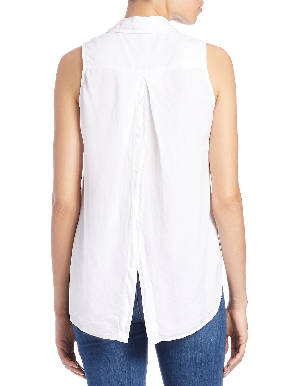 Lyst Cloth Amp Stone Button Front Blouse In White