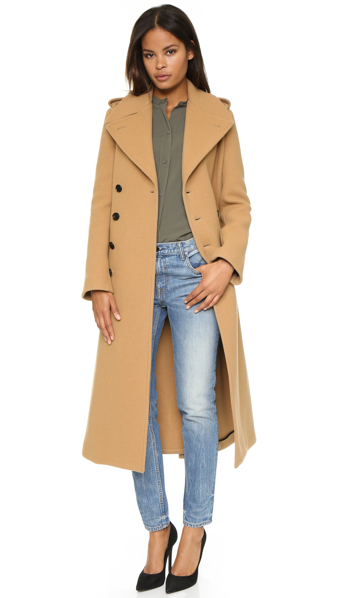 Lyst Joseph Townie Extra Long Trench Coat In Brown