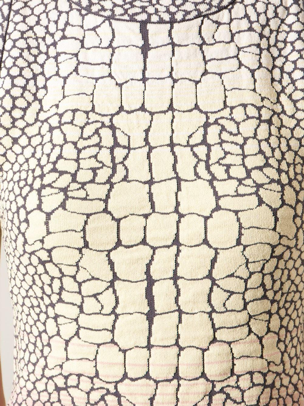 M Missoni Crocodile Print Dress Lyst