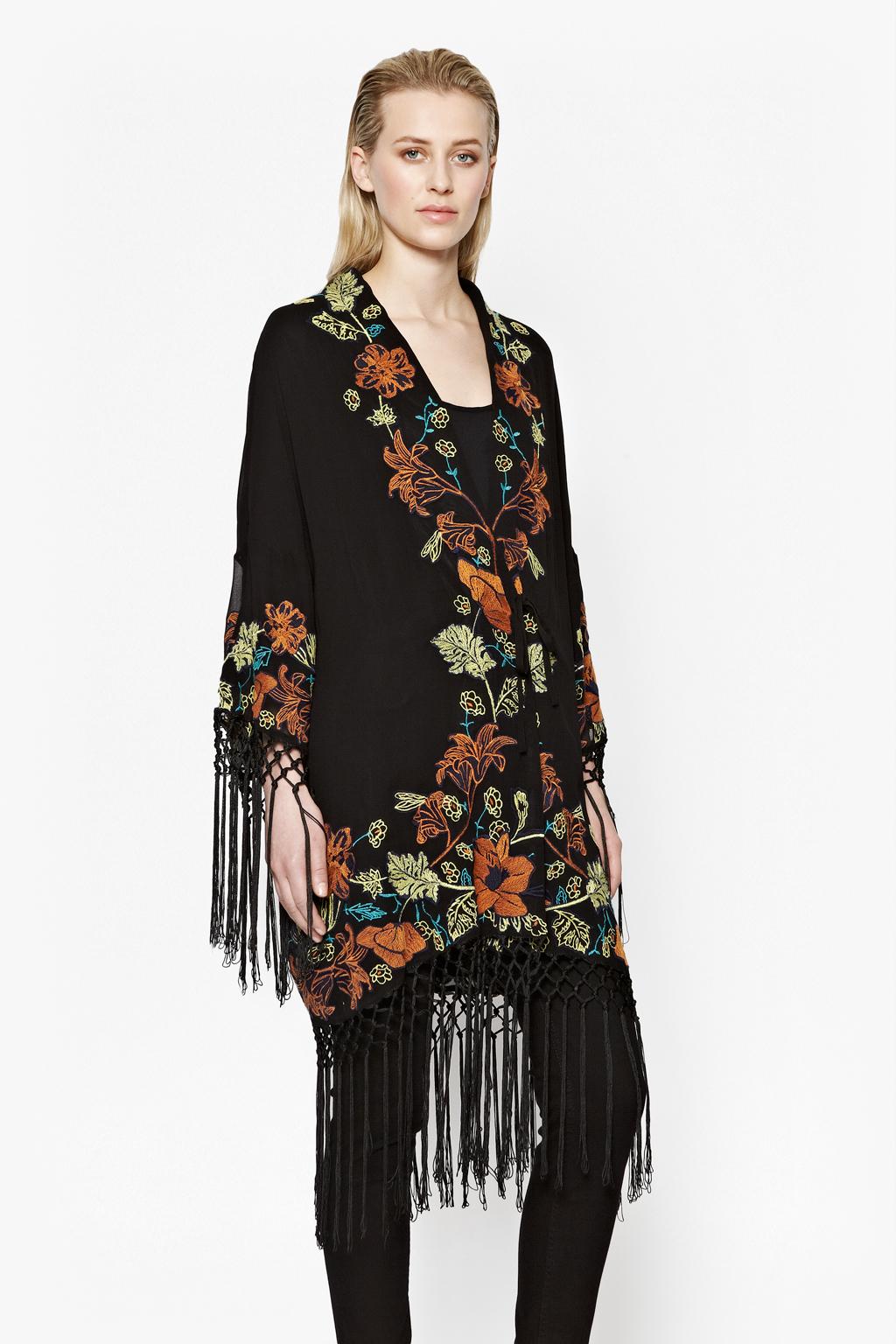 Lyst French Connection Seychelles Drape Kimono Jacket In