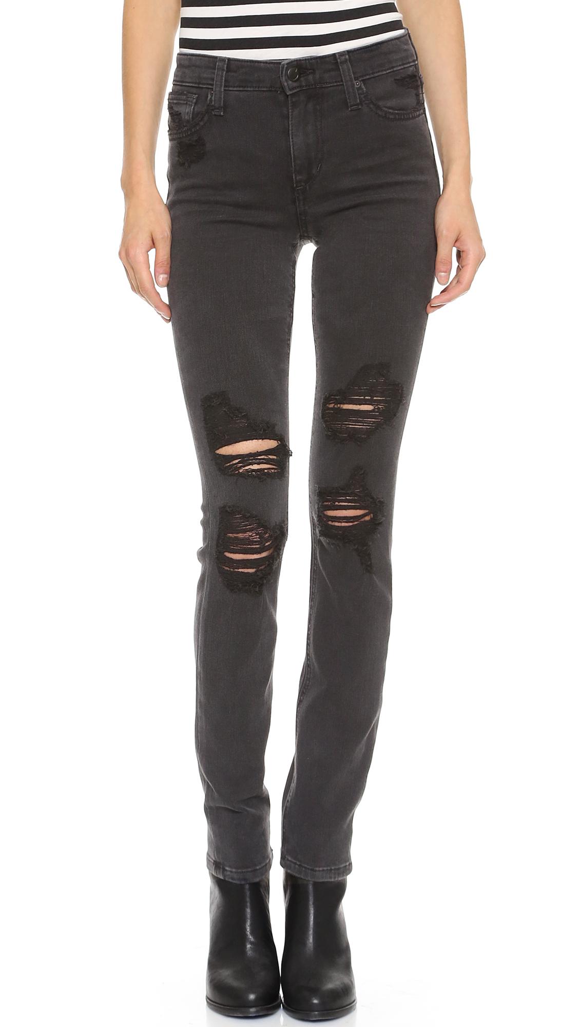 Joes Jeans High Rise Skinny Jeans Rhea In Gray Lyst