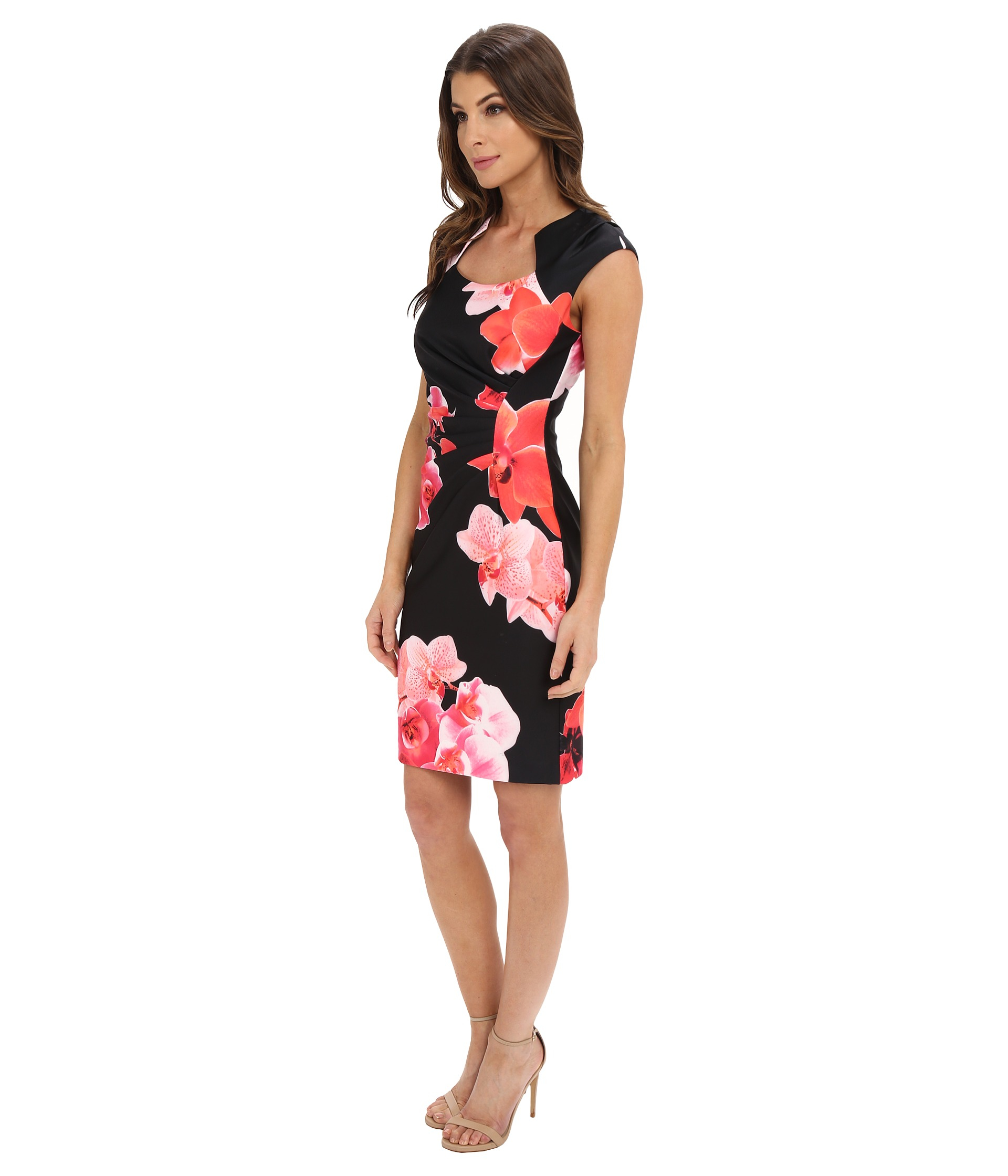 Calvin Klein Long Floral Dress