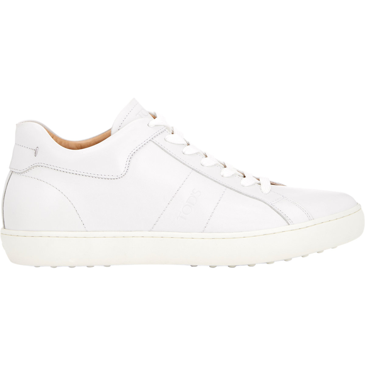 Tod S Leather Low Top Sneakers In White For Men