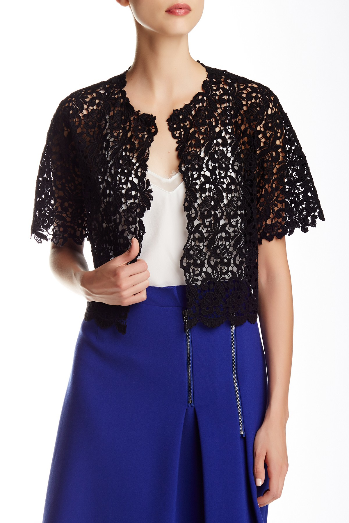 Lyst Elie Tahari Delilah Lace Jacket In Black