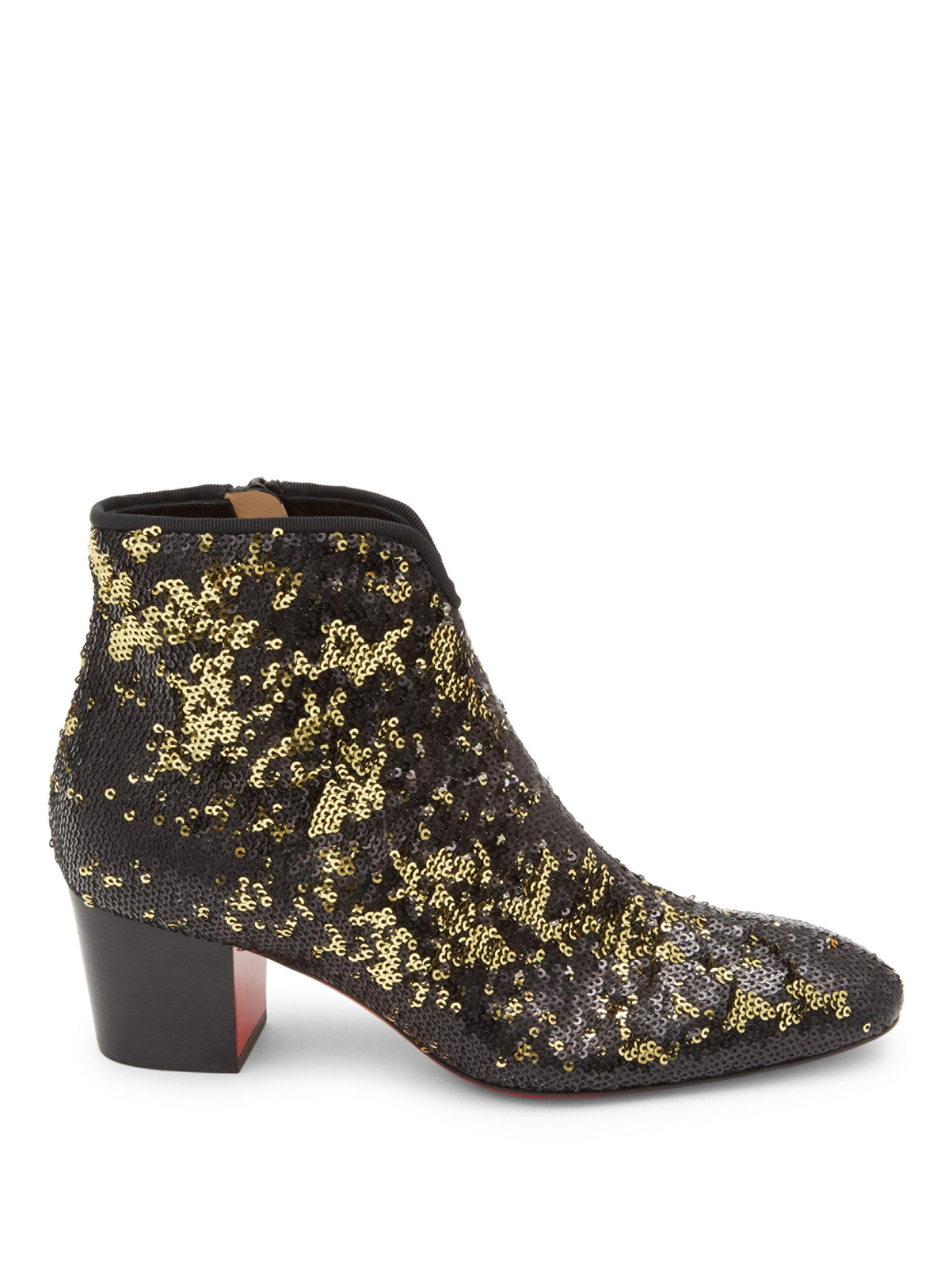 Jeffrey Booties Floral Campbell Red