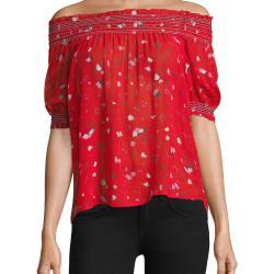 d5c84f1748fc93 Lyst Joie Gualberta Fiesta Floral Silk Blouse In Red