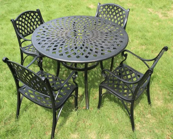 china balcony metal garden table set
