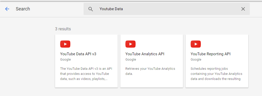 YouTube Data API Interface