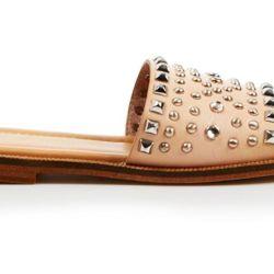 d6a3d3e548b Lyst Enzo Angiolini Flat Slide Sandals Jaydra In Black
