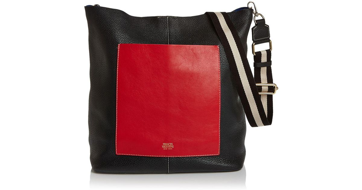 Lyst Frances Valentine Large Tumbled Leather Tote In Red