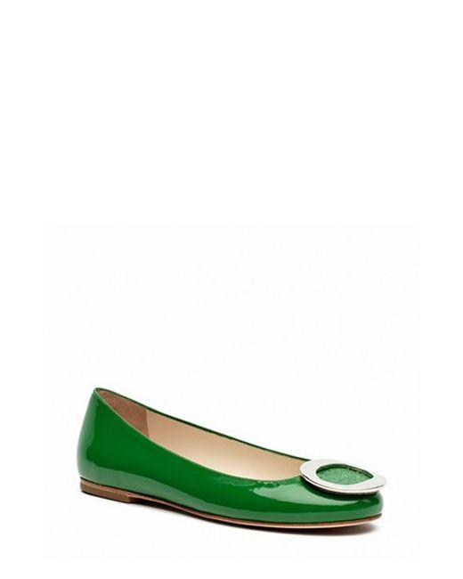 Frances Valentine Frances Ballet Flat In Green GREEN