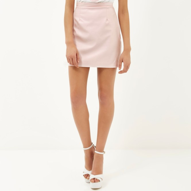 Pink Leather Skirt River Island - Skirts