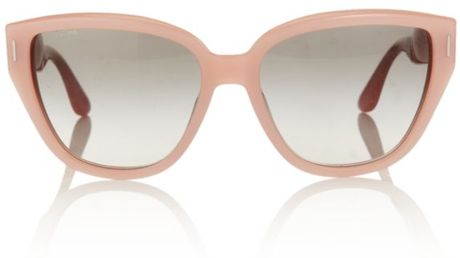 Miu Miu Pastel Cat Eye Sunglasses in Pink