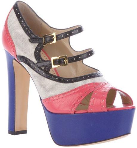 Moschino Cheap & Chic Colourblock Sandal in Multicolor (multi)