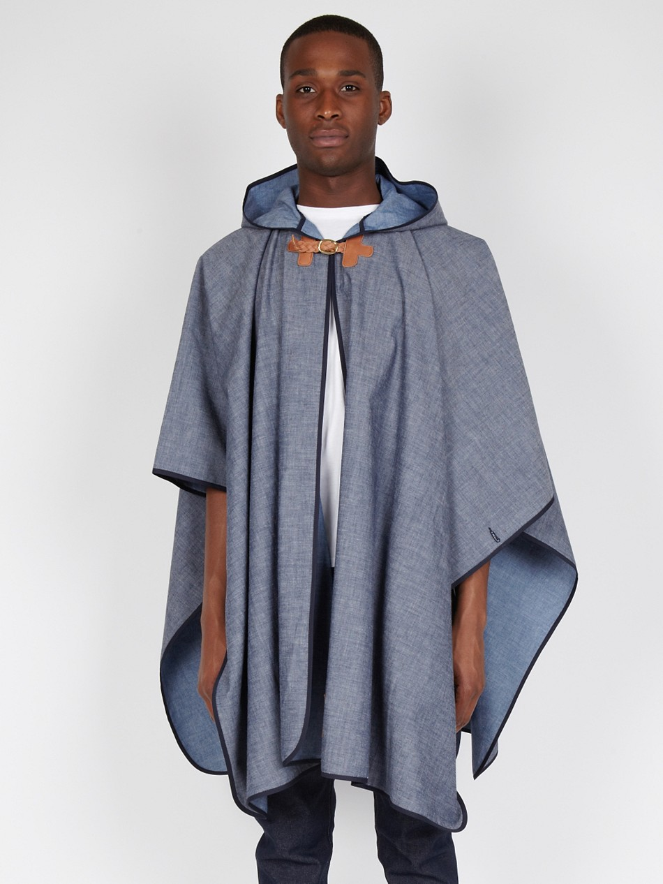 All Blue Fallow Mens Summer Cape