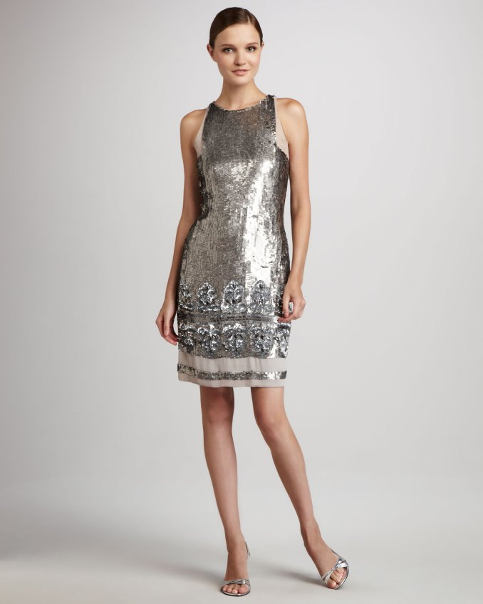 Image Result For Aidan Mattox Silver Dress