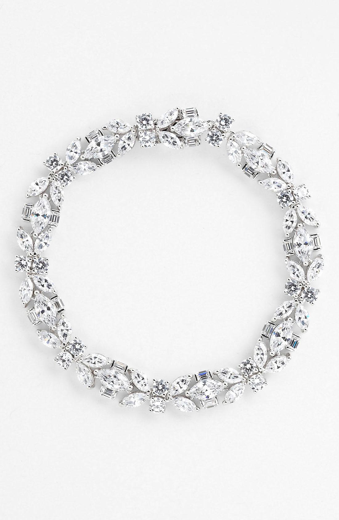 4524eb3cf Nadri Cubic Zirconia Cluster Line Bracelet In Silver