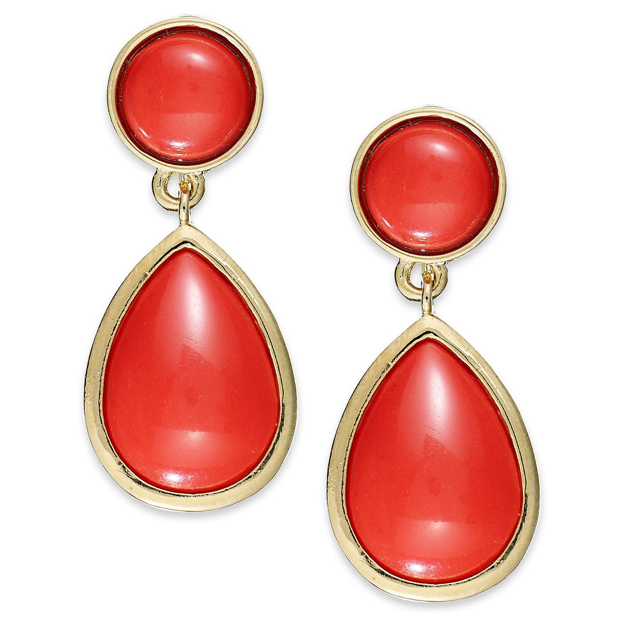 Fashion Gold Tone Teardrop Earrings