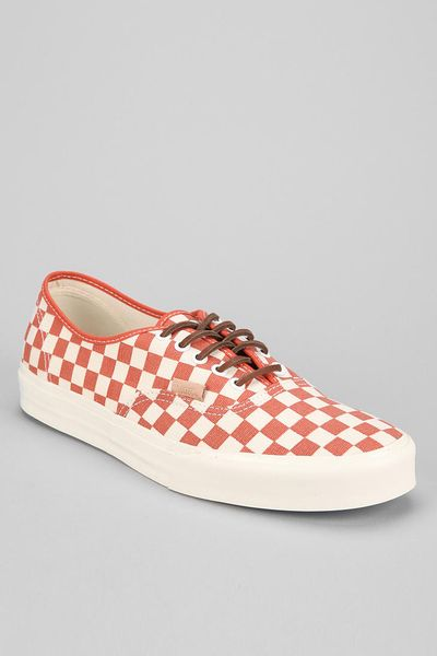 Urban Outfitters Vans Ca Authentic Checker Mens Sneaker In