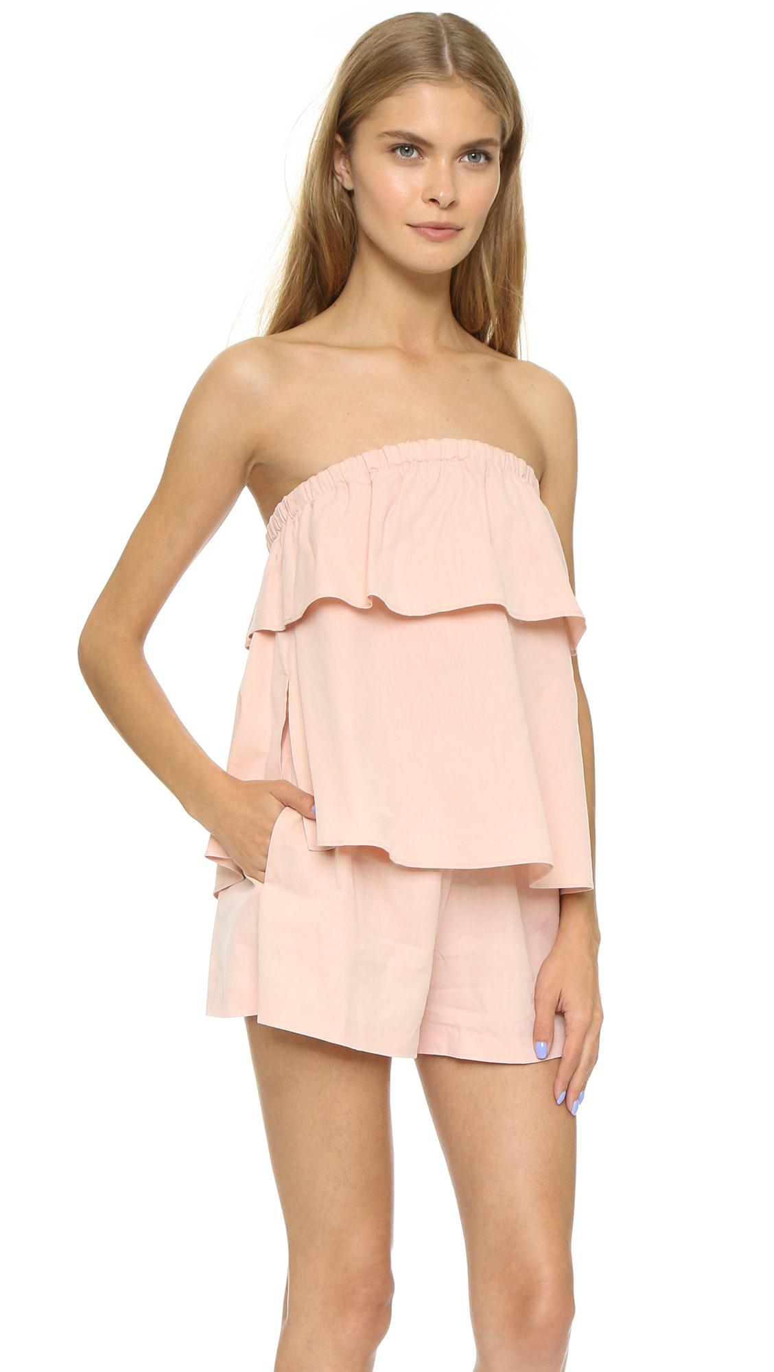 Club Monaco Leele Romper Pink Salt In Pink Lyst