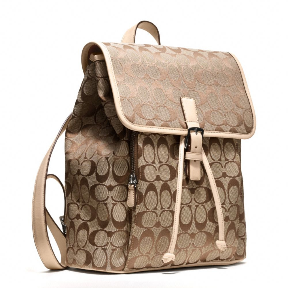 Coach Signature Backpack In Black Lyst