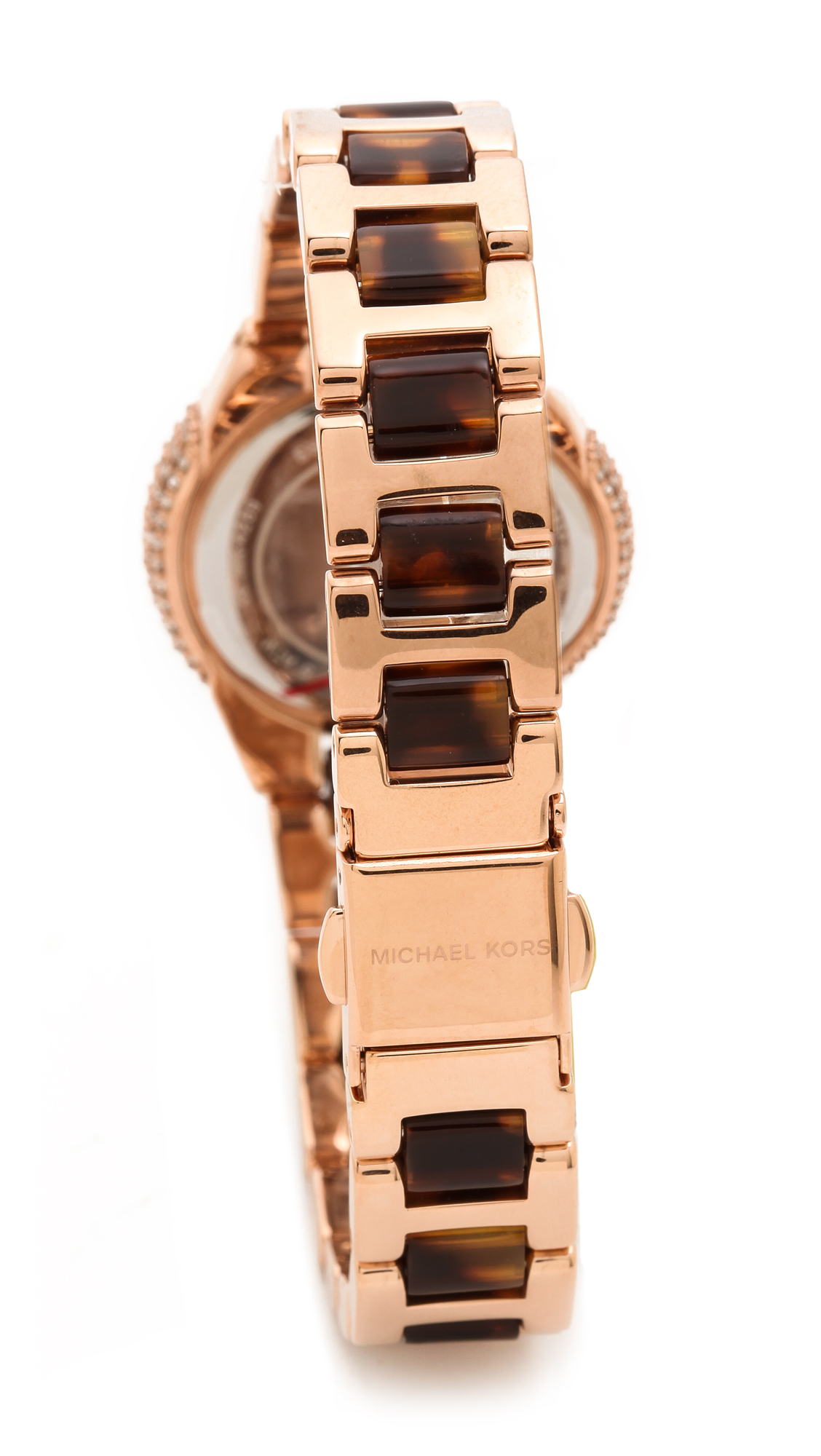 47d292ea048e Lyst Michael Kors Petite Camille Gold Tone Watch And Slider Corrinesshihtzu