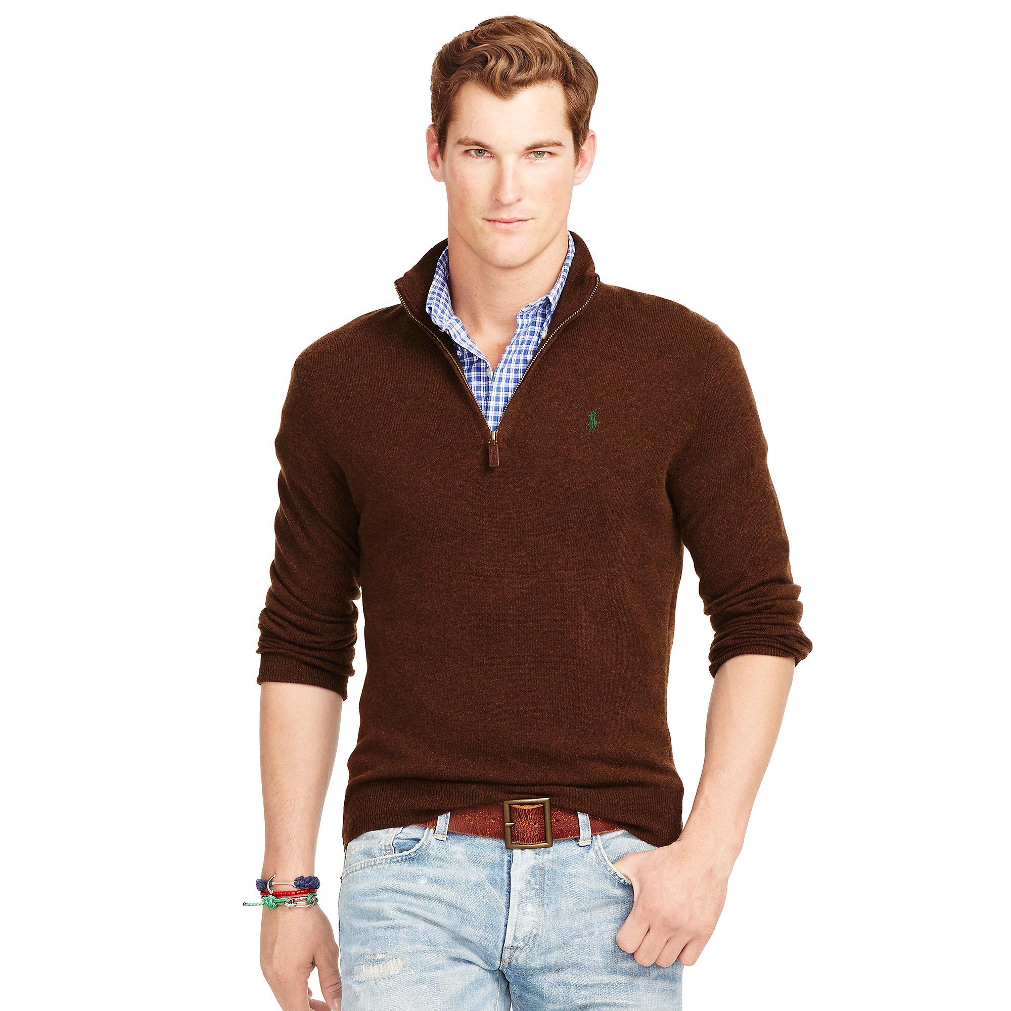Dark Blue V Neck Merino Wool Sweater