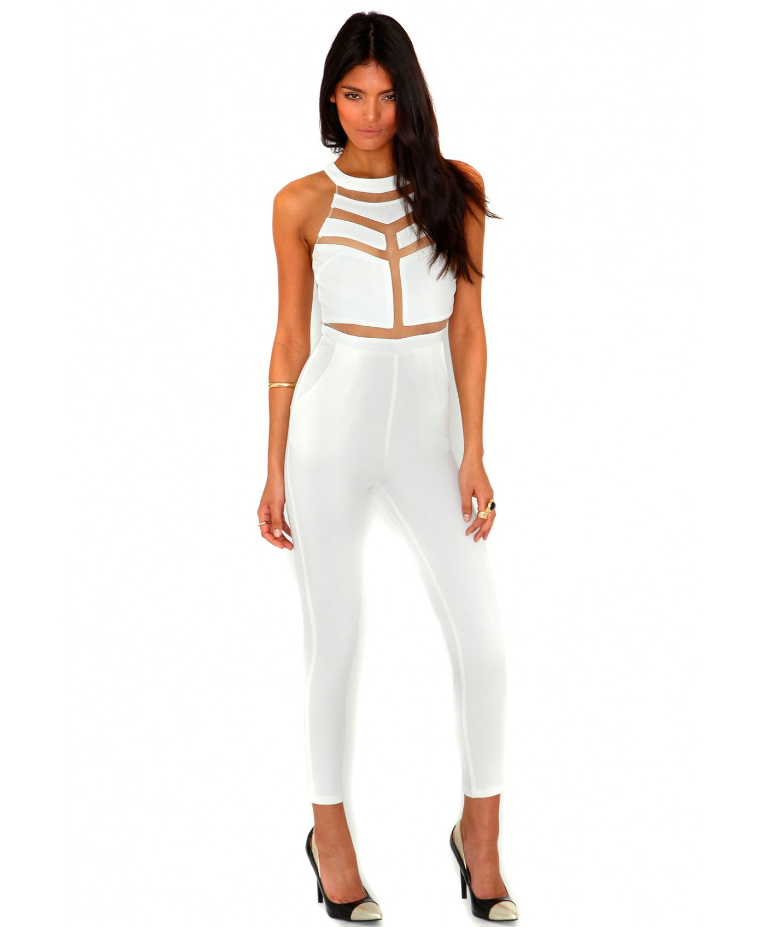 Womens White Jumpsuits And Rompers Breeze Clothing