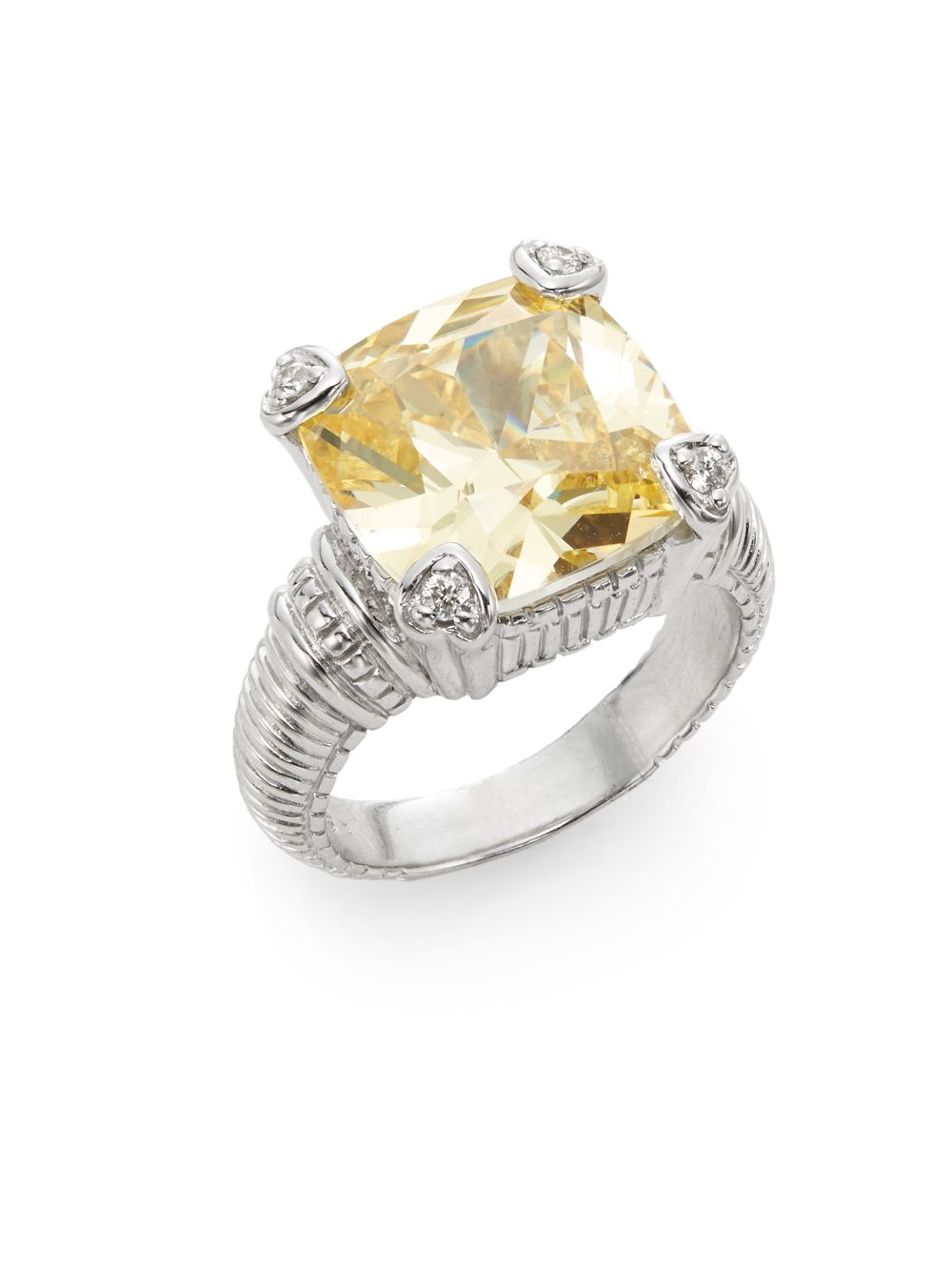 Judith Ripka Fontaine Canary Crystal Diamond Amp Sterling