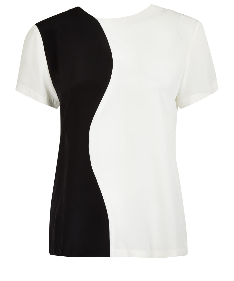 White Sleeve And And Office Skirt Black Short Tops