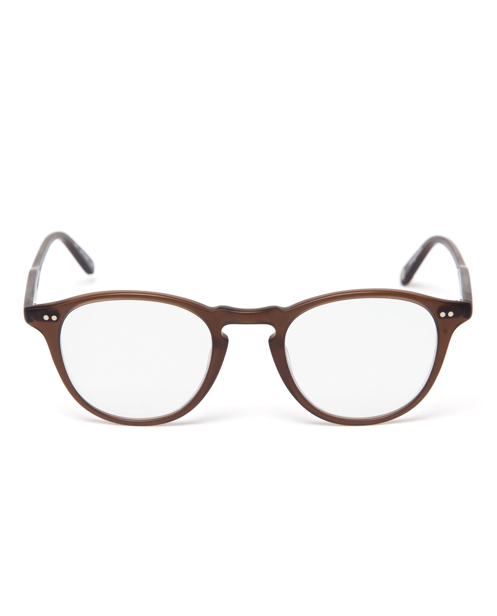 Garrett Leight Hampton Round Optical Glasses In Brown