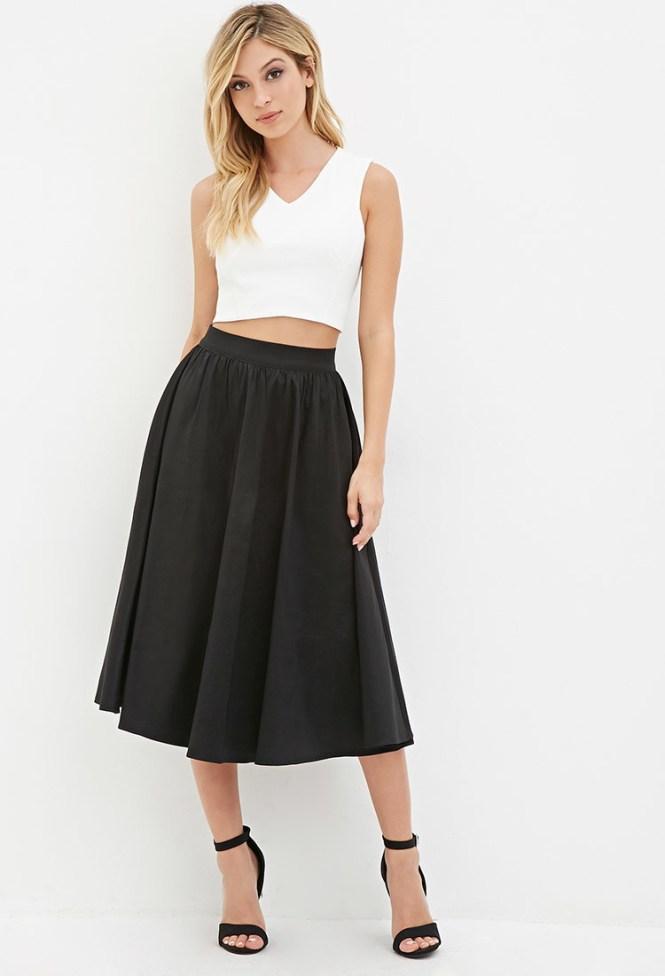 A Line Midi Skirt - Skirts