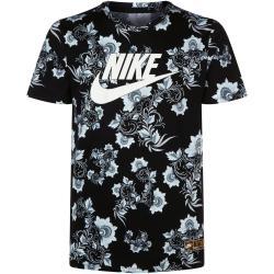 82ebec40 Nike Floral Print T Shirt, Black, M In Black For Men Lyst