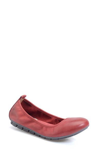 Brn Tami Leather Flats In Pink Lyst