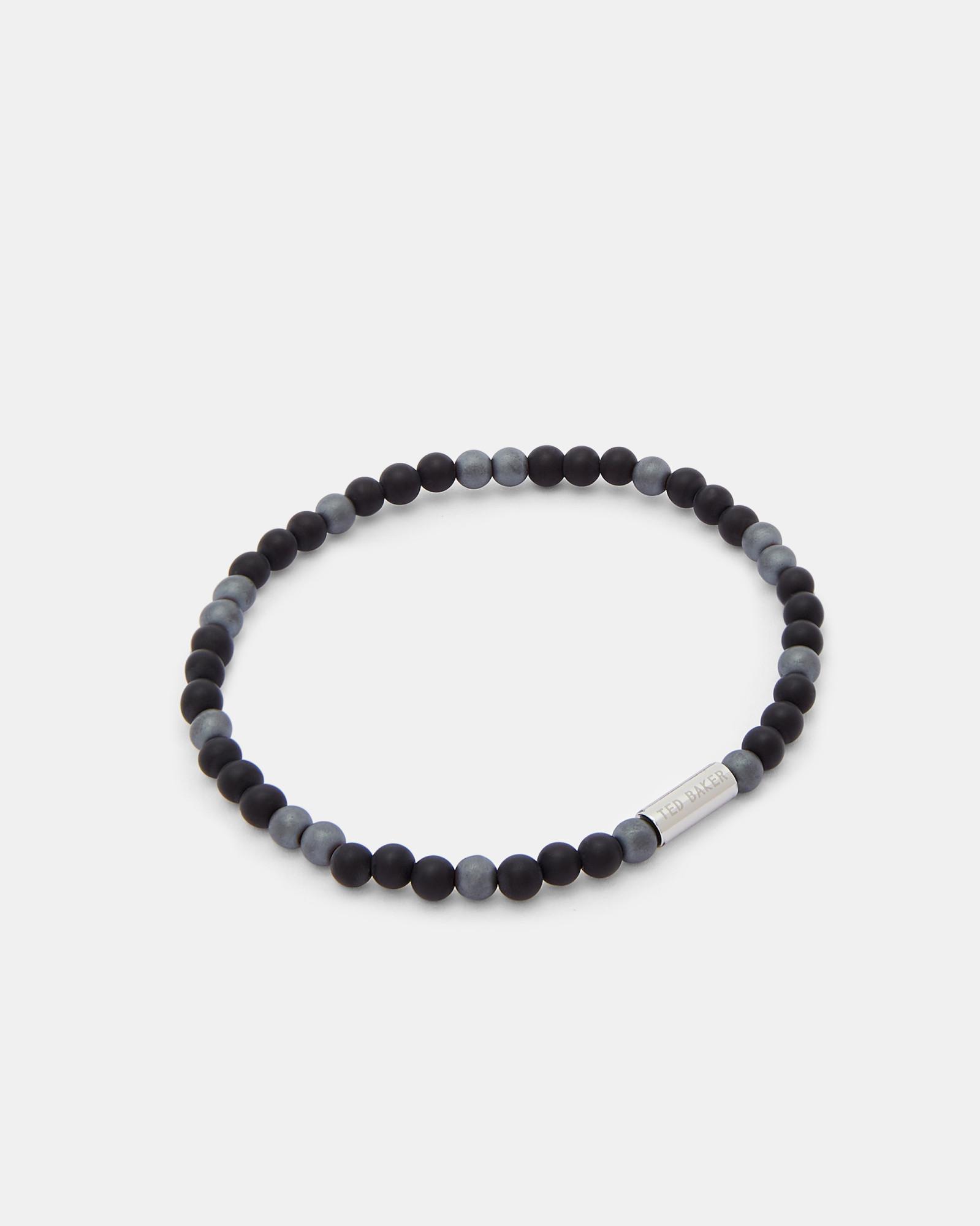 Ted Baker Semi Precious Beaded Bracelet In Black For Men