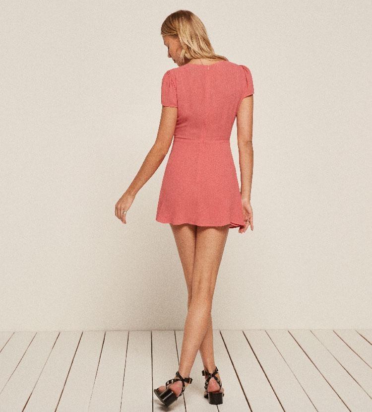 Reformation Jenna Dress In Pink Lyst