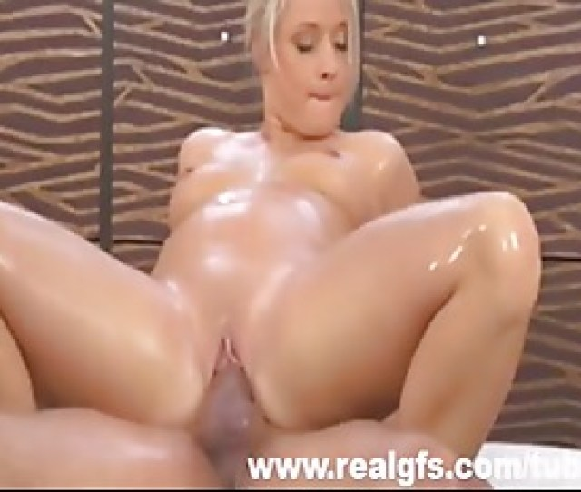 Oiled Teen Shows Off Her Massge Sex Skills