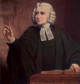 Charles Wesley wrote hymns that express his theology.