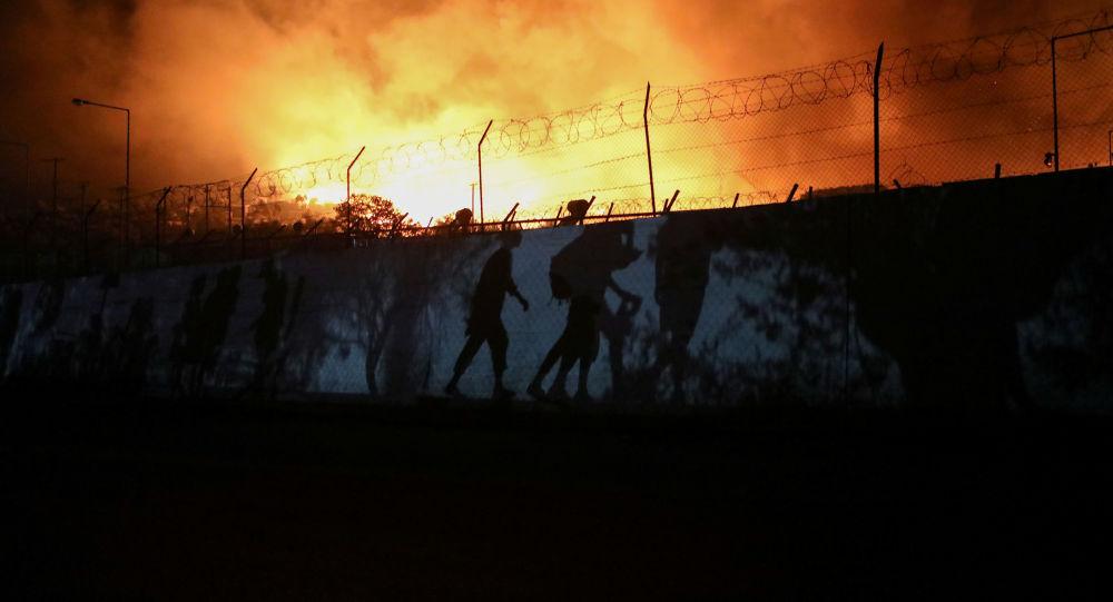 Incendie du camp de Moria en Grèce: six jeunes Afghans interpellés
