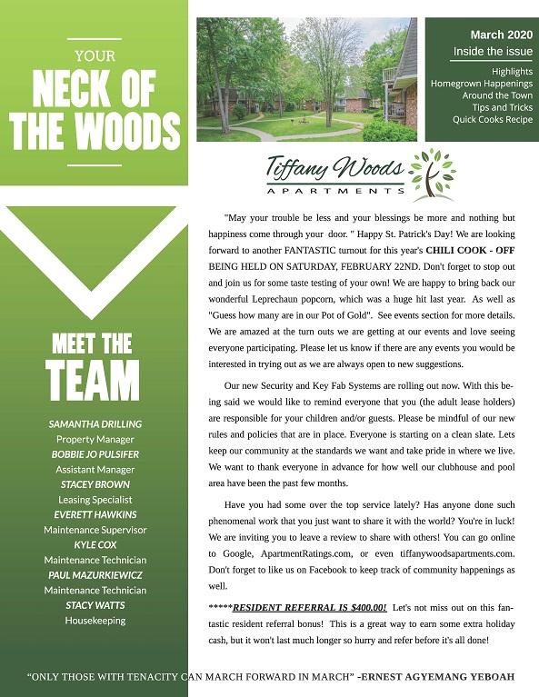 The Tiffany Woods Community