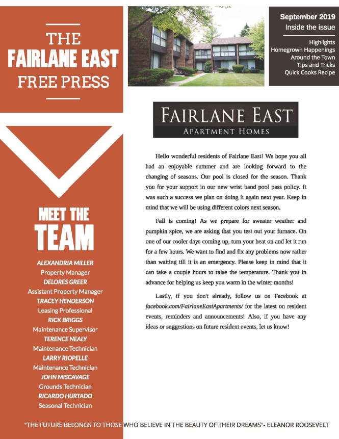 Fairlane East Apartments In Dearborn