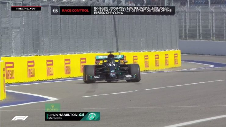Lewis Hamilton, punição, GP da Rússia 2020,